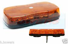 12V/24V 1 SINGLE POINT/BOLT ON MINI SLIM LED FLASHING AMBER LIGHT-BAR BEACON-BAR