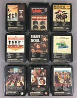THE BEATLES NICE LOT OF NINE 8 TRACK TAPES HELP! RUBBER SOUL ABBEY ROAD REBUILT!