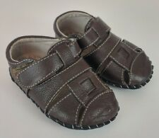 Pediped Toddler Baby Boy's Size 12 - 18 Months Soft Sole Sandals Brown Shoes