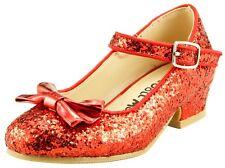 Girl's Wedding Party Glitter Dress Dance Shoes Toddler Little Girls w/ Pump