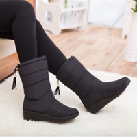 Hot Womens Winter Snow Mid Calf Boots Fur Lining Waterproof Platform Shoes US
