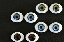 Solid glass eyes oval flat back 20mm for Reborns,Ooaks and other crafts
