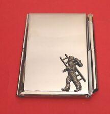 Chimney Sweep Chrome Notebook / Card Holder & Pen Wedding Bridegroom Gift