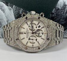 Audemars Piguet Royal Oak 41mm Mens Watch ICED OUT 25ct DIAMONDS