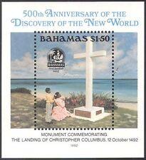 Bahamas 1992 Columbus 500th/Ships/Exploration/Explorers/Monument 1v m/s (b9131)