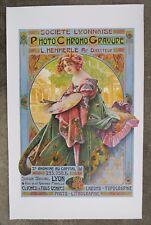 Affiche lithographiée poster original Gaspar CAMPS LYON jugendstil art nouveau