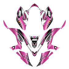 Kawasaki KFX 450 R graphics decal kit Design #1300 Hot Pink