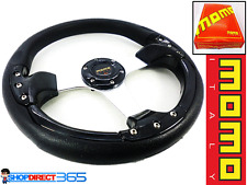 MOMO 350mm DEEP DISH STEERING WHEEL BLACK Rally Drift OMP NARDI SPARCO NEW 19-2