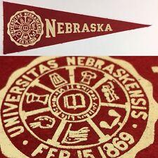 1950s Nebraska Cornhuskers University Hormel Mini Pennant 3.5x9.75 Lincoln NU