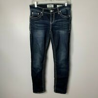 Daytrip Lynx Skinny Jeans Sz 27 Womens Dark Wash Wide Stitch Stretch Denim