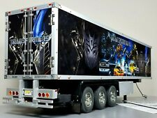 Custom Tamiya 1/14 Transformers 3-Axle Reefer Trailer + light Kit+ Motorized Leg