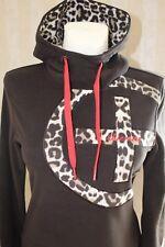 Chiemsee Fleece Pullover Damen Hoody braun-grau Gr. S  NEU!