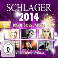 SCHLAGER 2014-DIE HITS DES JAHRES HELENE FISCHER/BEATRICE EGLI/+ 2 CD + DVD NEU
