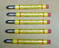 5 Kasco Dog Food Bullet Advertising Pencils - Never Used