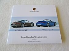 2012 Porsche Rare PARIS Press Kit CD Brochure 911 Carrera 4 4S 991 Sport Turismo