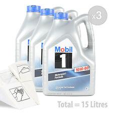 Car Engine Oil Service Kit / Pack 15 LITRES Mobil 1 10w-60 Engine Oil 15L