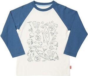 Boys Long Sleeve T-Shirt - Blue/White - BNWT - RRP up to £21- Kite