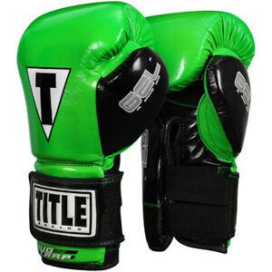 Title Boxing Gel Glory Super Bag Gloves - Lime/Black