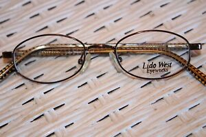 Lido West Childs Oval  Eyeglasses Brown Netal and Plastic Frame