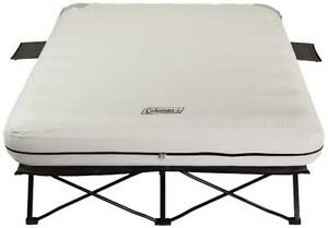 Camping Bed Coleman Airbed Cot Queen Mattress Indoor Outdoor Carry Bag Pump