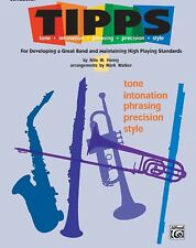 """ALFRED """"TIPPS"""" FOR DEVELOPING BAND-MUSIC BOOK-BARITONE T.C.-BRAND NEW ON SALE!!"""