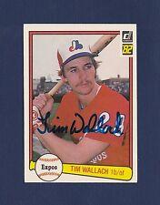Tim Wallach signed Montreal Expos 1982 Donruss Rookie baseball card