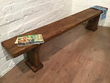 6ft X-Wide WideFoot Solid Rustic Vintage Reclaimed Pine Plank Dining Table BENCH