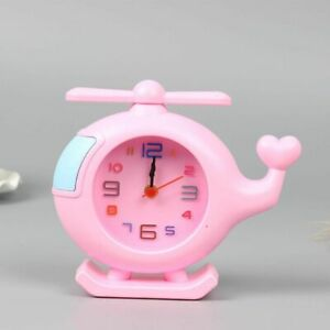 Helicopter Shape Child Alarm Clock Cartoon Candy Color Table Clock Home Decor