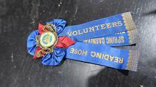Reading Pennsylvania Hose Volunteers Spring Carnival 1903 Ribbon