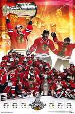Chicago Blackhawks Stanley Cup 2015 Champions CELEBRATION Commemorative POSTER