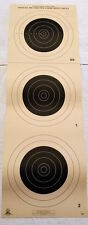 Lot of Ten (10) A-25 Official 100-Yard Small Bore Rifle Targets for NRA Matches