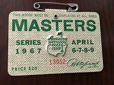 1967 Masters Badge Ticket Augusta National Golf Pga Gay Brewer Wins Rare Tiger
