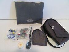 turkish airline black travel amenity kit bag   institut karite paris