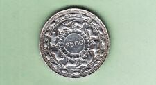 CEYLON SRI LANKA  5 RUPIE 1957 2500 ANNI BUDDISMO ARGENTO 925/.  peso 28,28 vedi