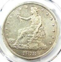 1878-CC Trade Silver Dollar T$1 - PCGS XF Details (EF) - Rare Carson City Coin!
