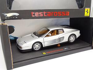 Hot Wheels Elite 1/18 - Ferrari Testarossa Silver