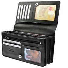 AMARI Portemonnaie - XXL - Rindnappaleder 20 Fächer Geldbörse Geldtasche / 6130A