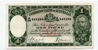 Australia 1933 One Pound £1 Riddle/Sheehan R28 Good Very Fine CRISP N/38 345296