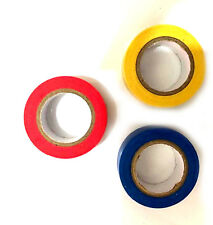 3 x Colored Insulation Tape PVC Flame Retardant Electrical 15mm x 15M Insulating