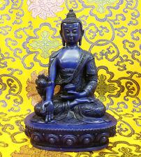 MEDICINE BUDDHA Tibetan Buddhist Statue Handmade from Nepal Resin 8 Inch