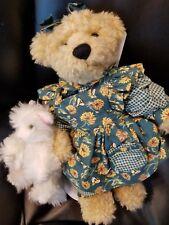 """Belinda w wt Bear Mary Holstad  mohair bear 13"""" ADG """"Mother can I keep the Bear"""