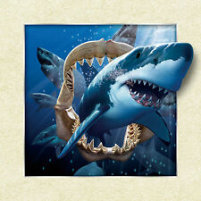 Shark Big Lenticular 3D Picture Animal Poster Painting Home Decor Wall Art Decor