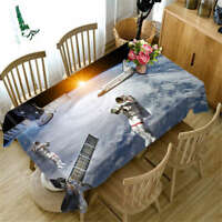 Freezing Moon 3D Tablecloth Table cover Cloth Rectangle Wedding Party Banquet