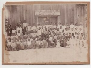 Wonderful 1890s Group Photo of the McNeill Graded School for Colored Children
