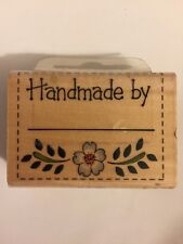 "Westwater Enterprises ""Handmade by"" Wood Mounted Rubber Stamp 1998"