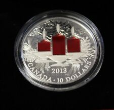 2013 $10 Fine Silver, Holiday Candle