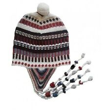 Alpakamütze Chullo weiße Wollmütze aus alpakawolle neu