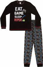 Boys  Eat Sleep Game Repeat Controller Long Pyjamas 8 to 15 Years AOP W17