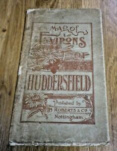 Map of the Environs of Huddersfield 1913 Robert's & Co