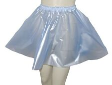 PVC Circle Skirt  L Semi Clear Blue Plastic Vinyl Roleplay Sissy Adult Baby